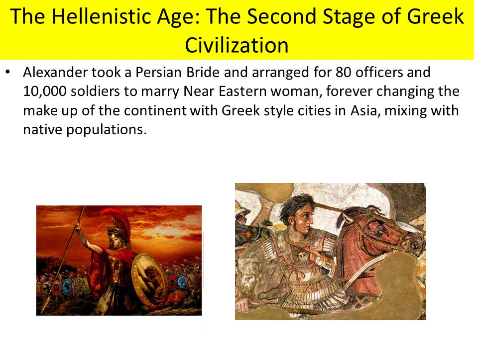 The Hellenistic Age: The Second Stage of Greek Civilization