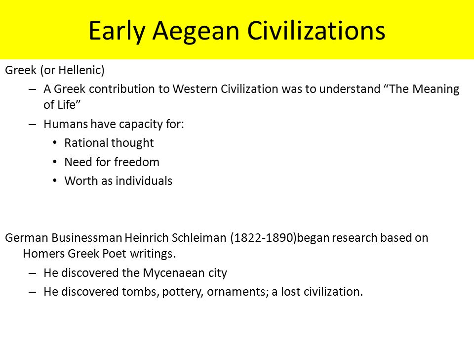 Early Aegean Civilizations