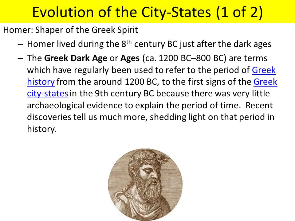 Evolution of the City-States (1 of 2)