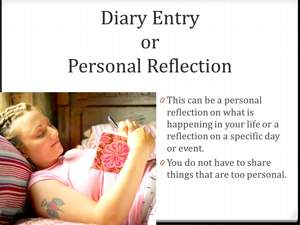 Diary Entry or Personal Reflection