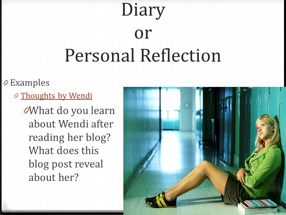 Diary or Personal Reflection