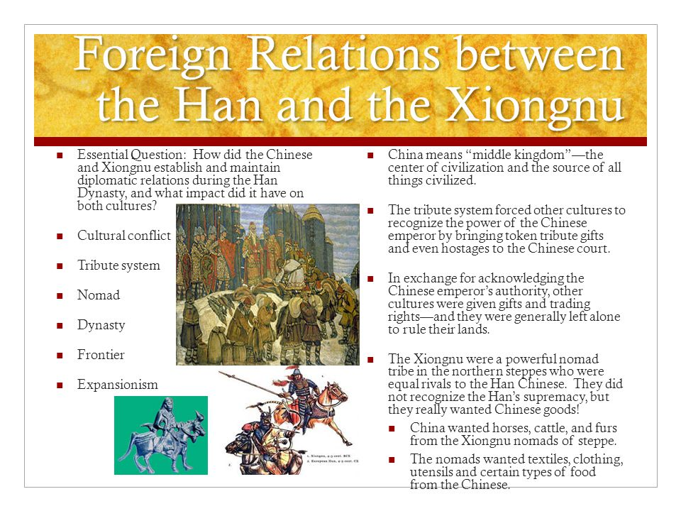 Foreign Relations between the Han and the Xiongnu