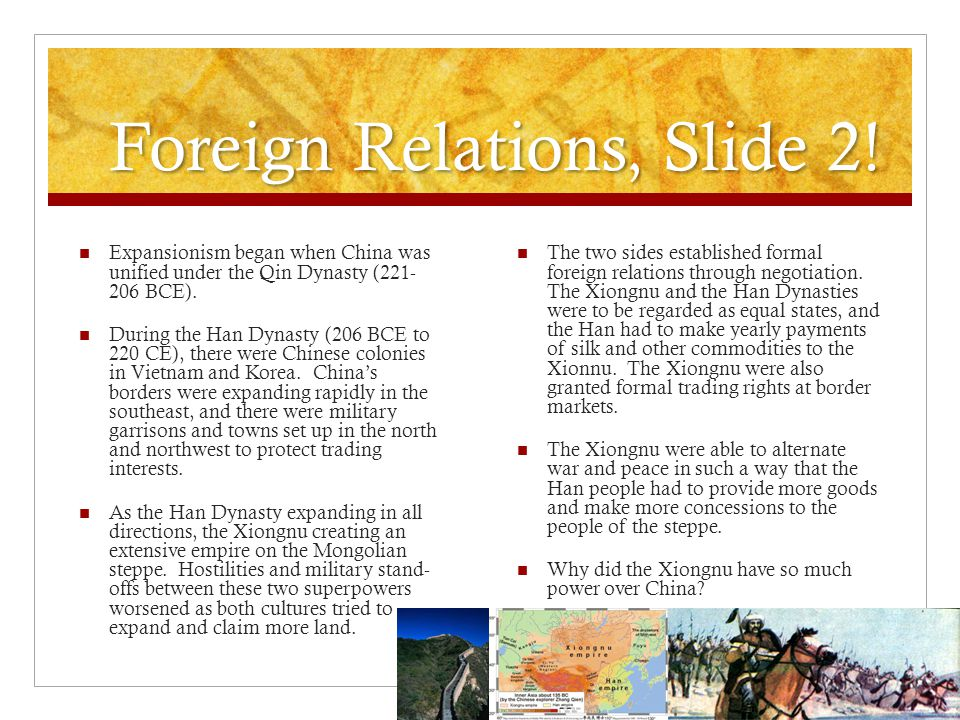 Foreign Relations, Slide 2!