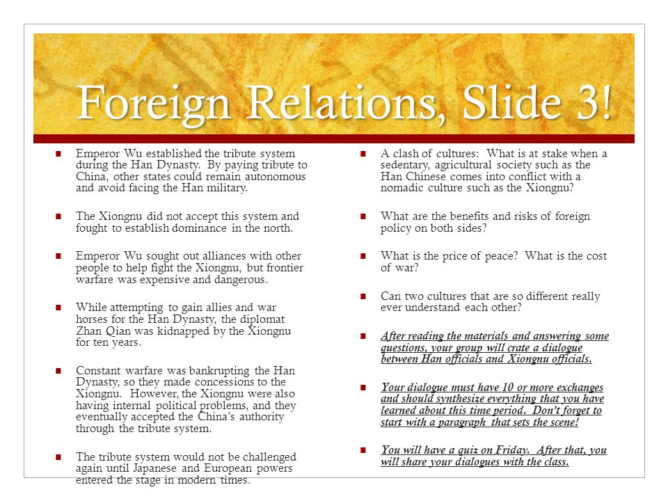 Foreign Relations, Slide 3!