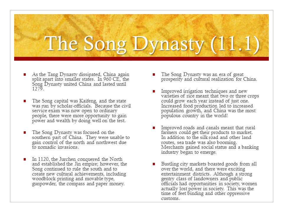 The Song Dynasty (11.1)
