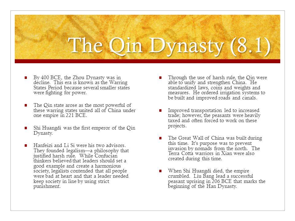 The Qin Dynasty (8.1)