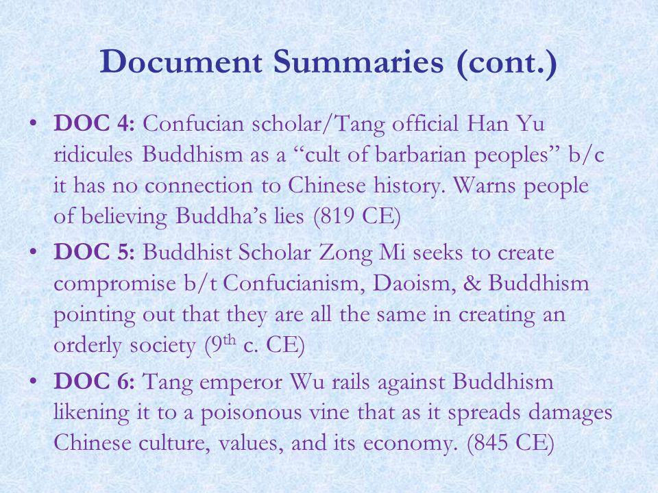 Document Summaries (cont.)