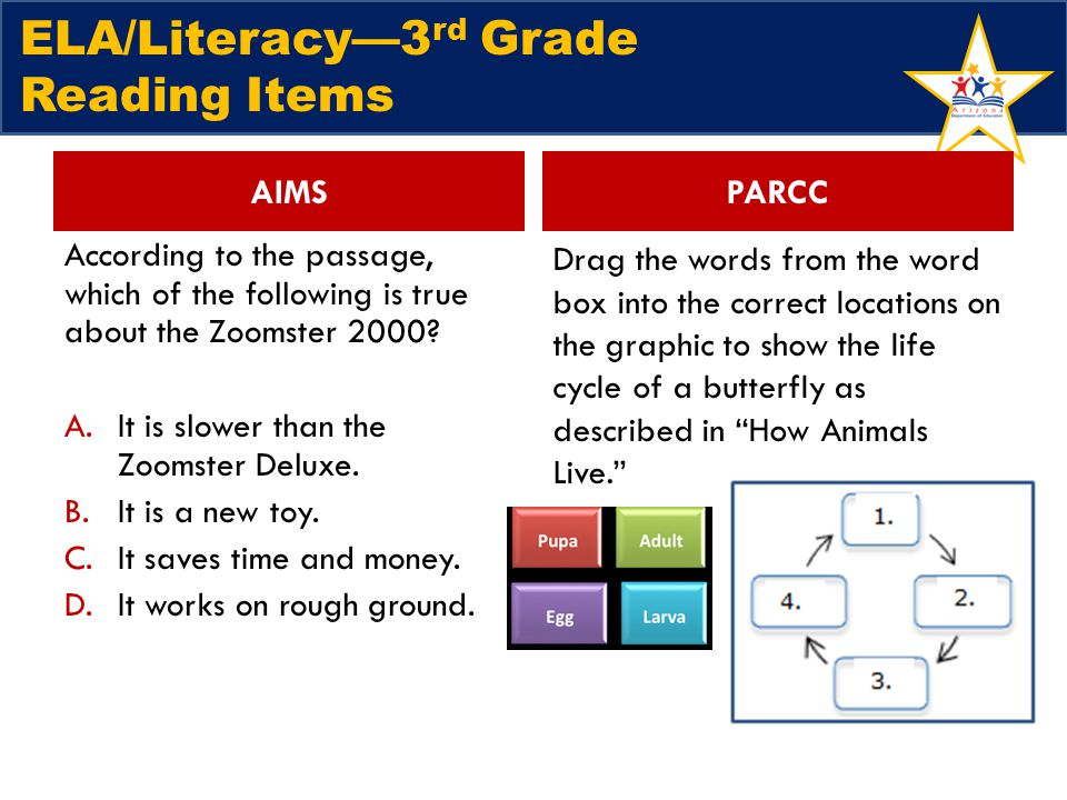 ELA/Literacy—3rd Grade Reading Items