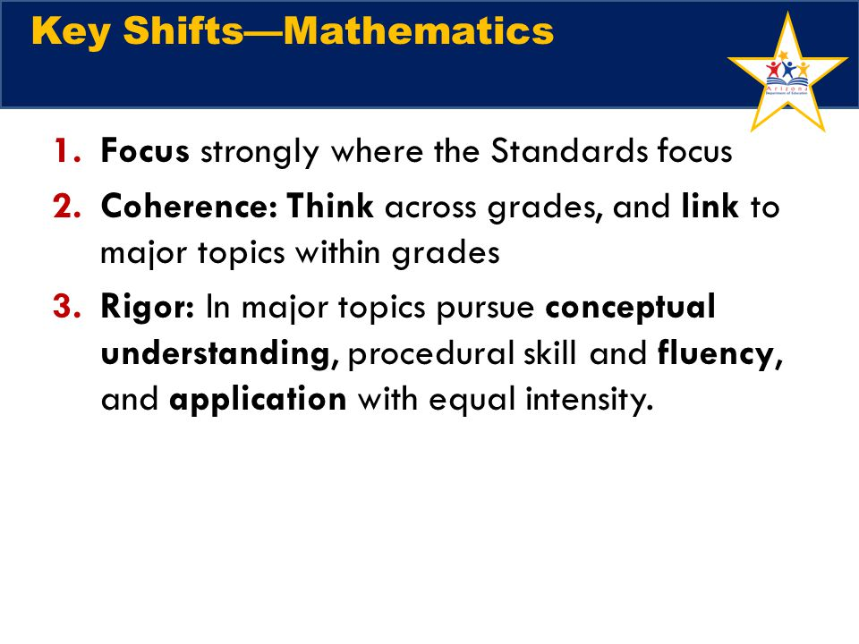 Key Shifts—Mathematics