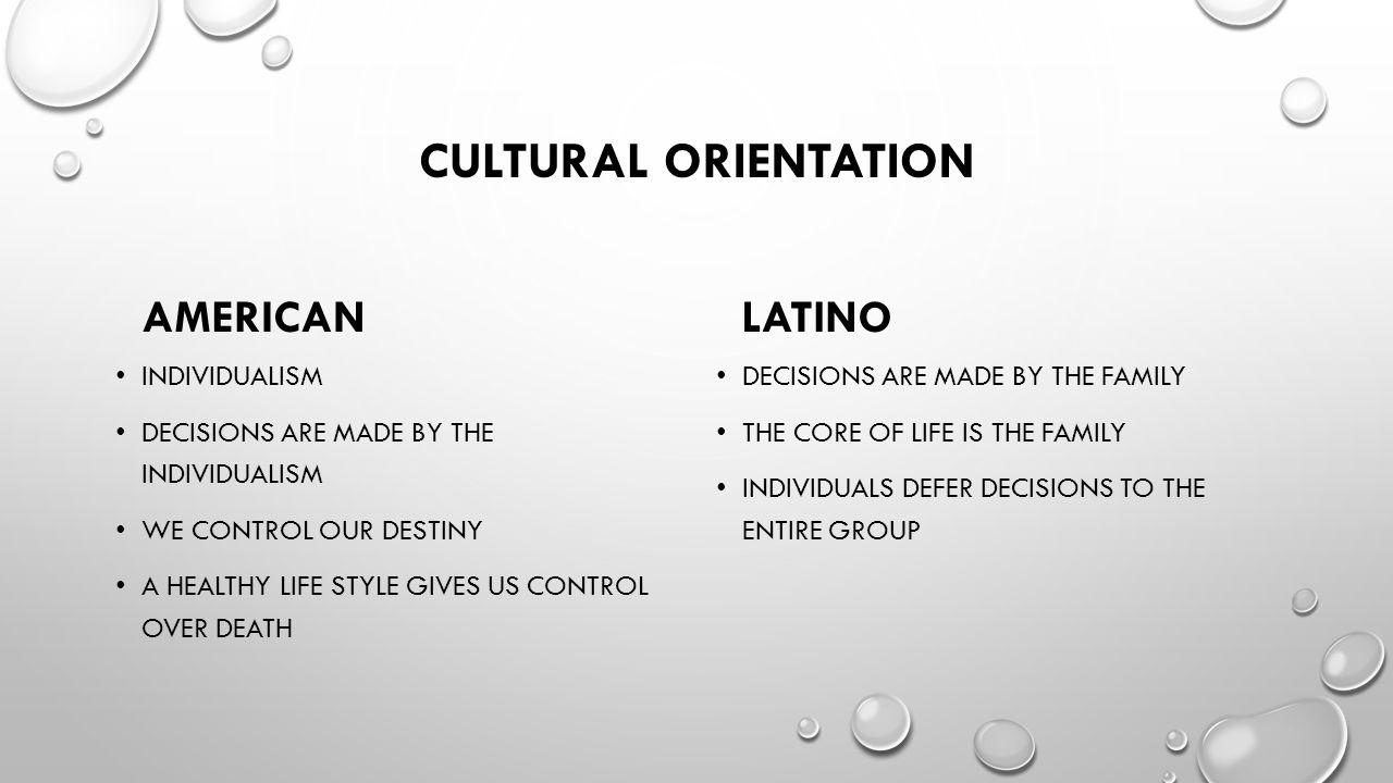 Cultural orientation American Latino Individualism