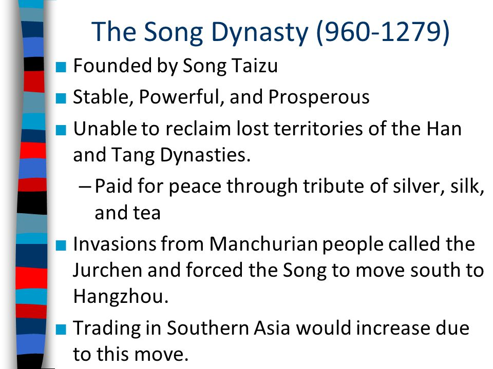 The Song Dynasty (960-1279) Founded by Song Taizu