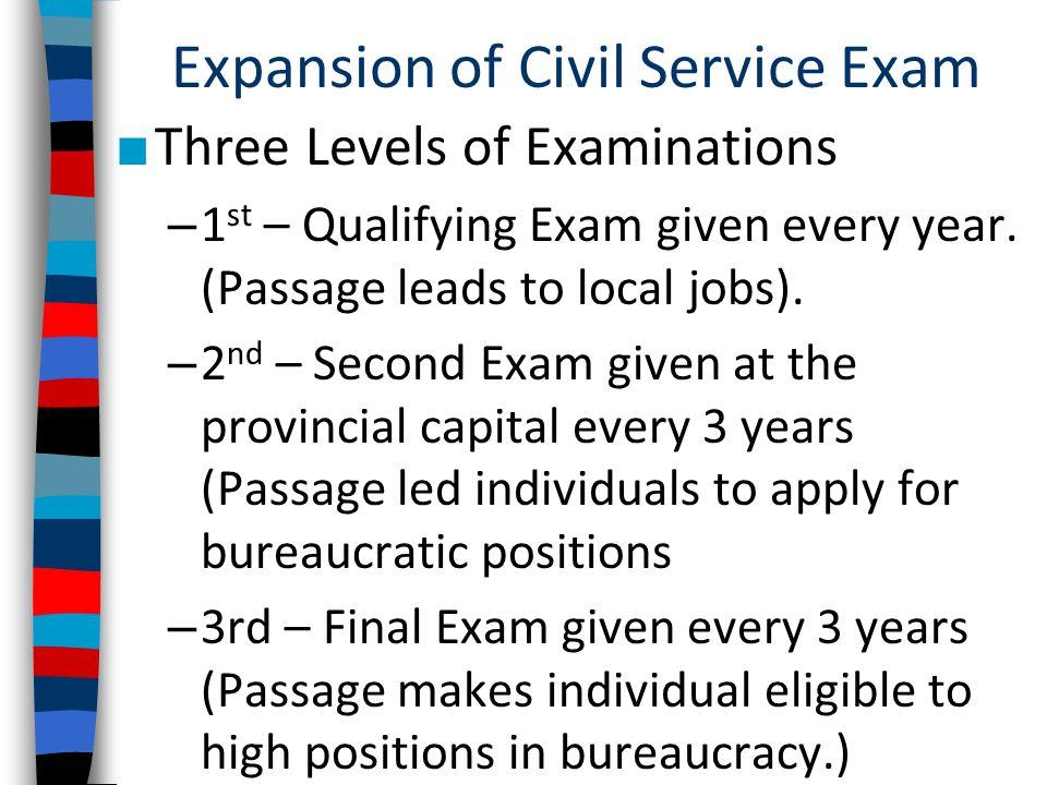 Expansion of Civil Service Exam