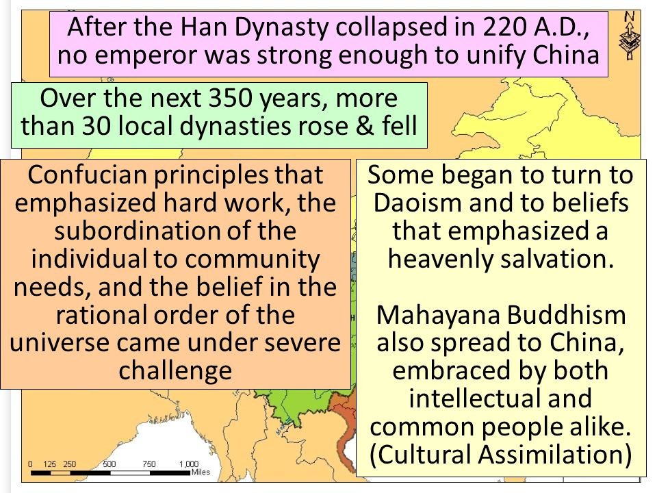 Over the next 350 years, more than 30 local dynasties rose & fell