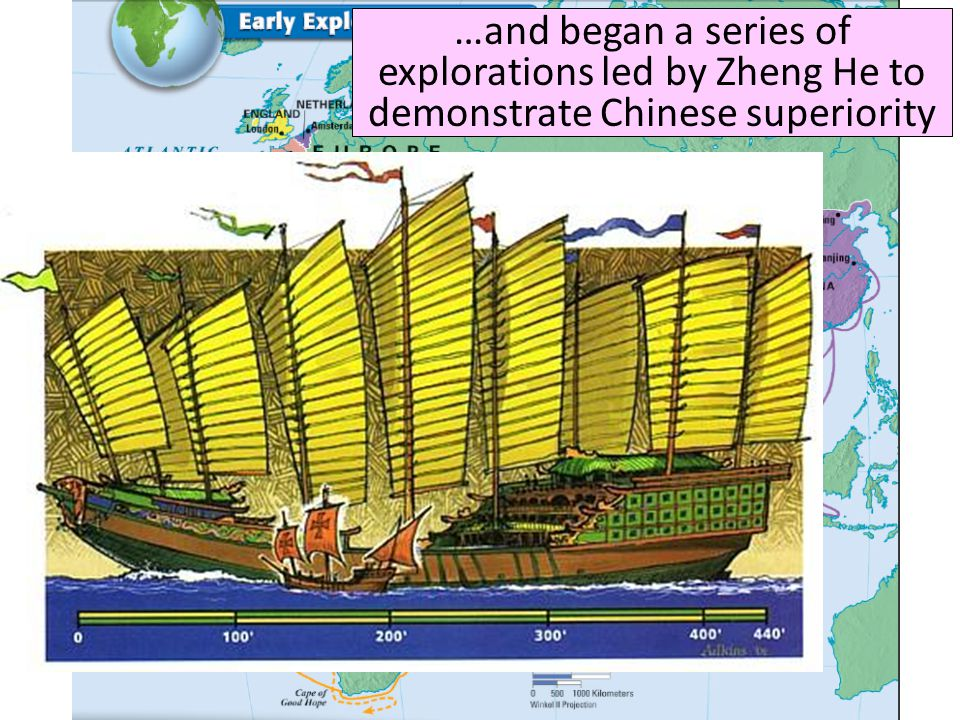 …and began a series of explorations led by Zheng He to demonstrate Chinese superiority