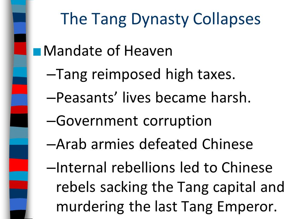 The Tang Dynasty Collapses