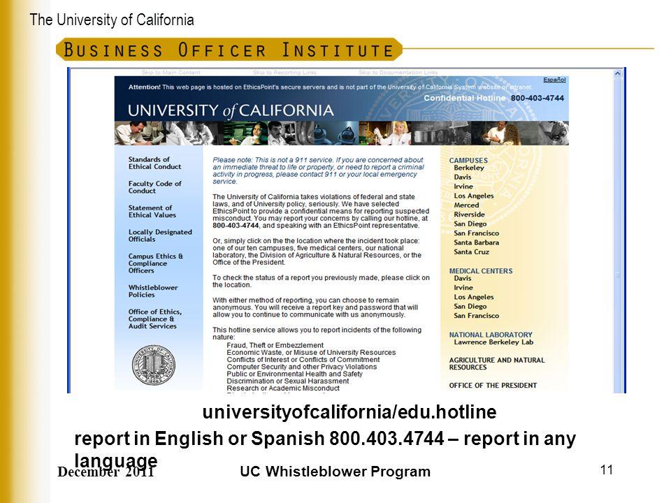 universityofcalifornia/edu.hotline UC Whistleblower Program