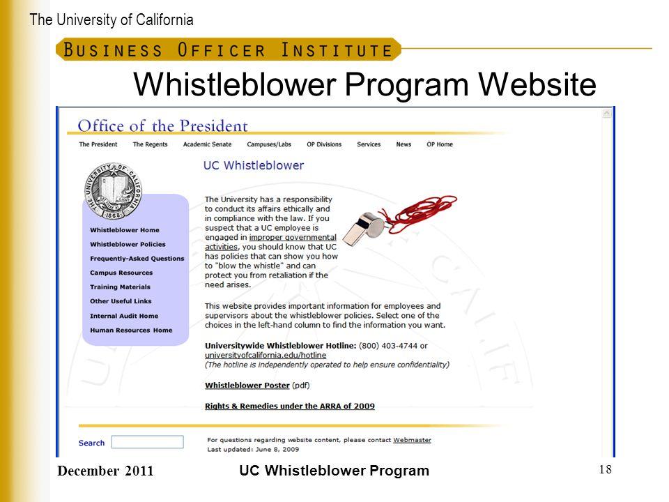 Whistleblower Program Website