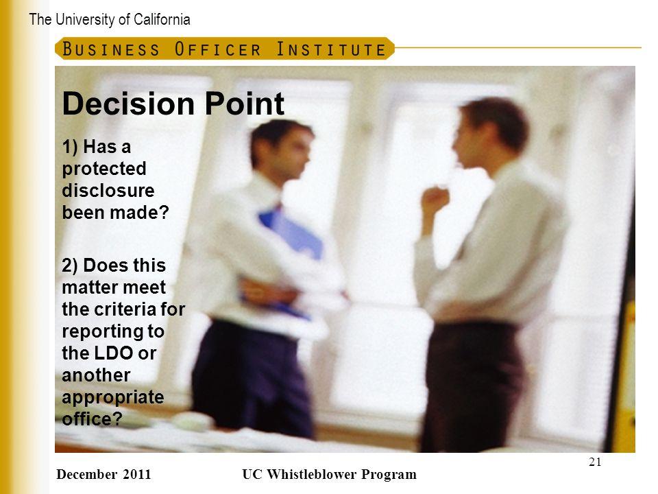 UC Whistleblower Program