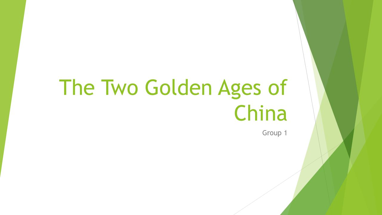 The Two Golden Ages of China
