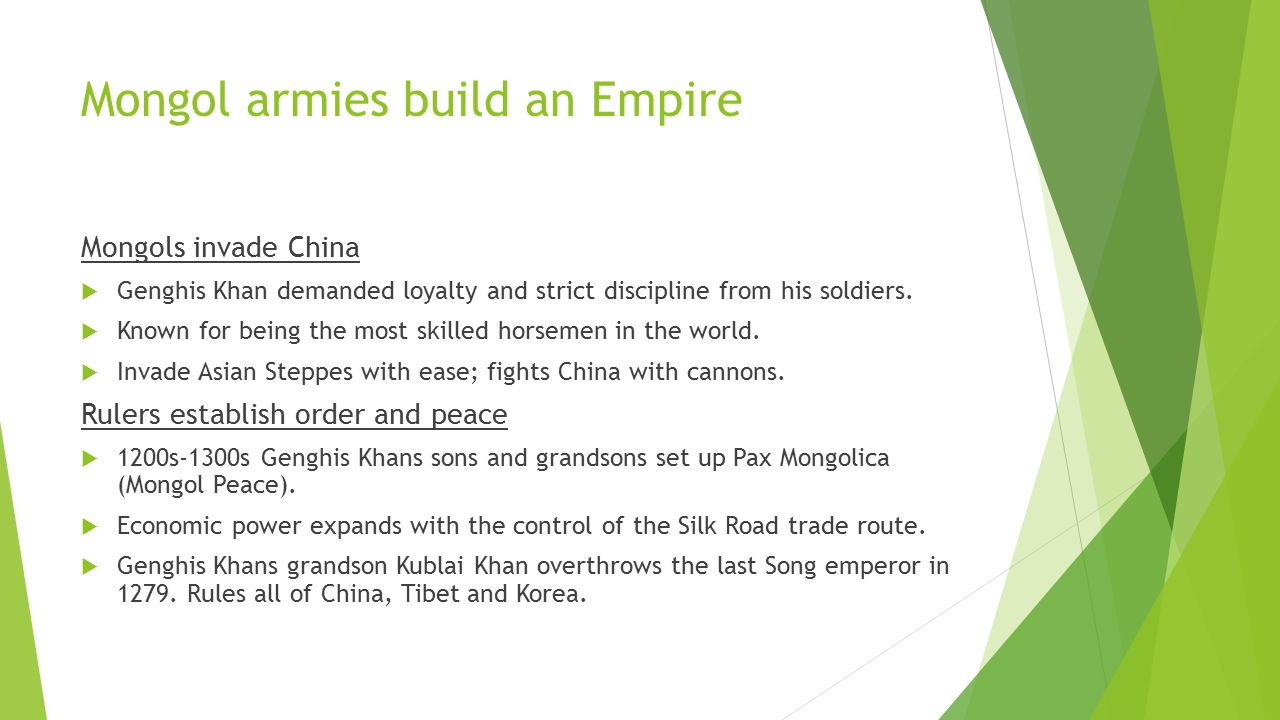 Mongol armies build an Empire