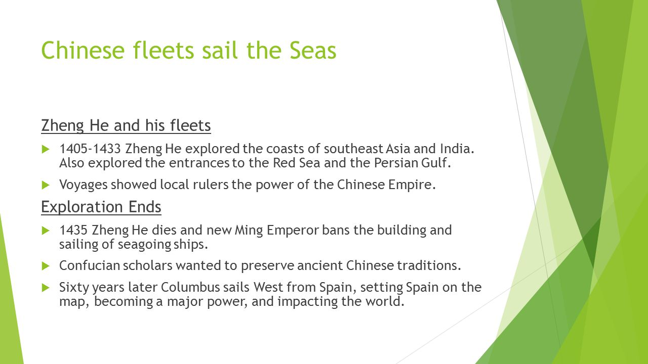 Chinese fleets sail the Seas