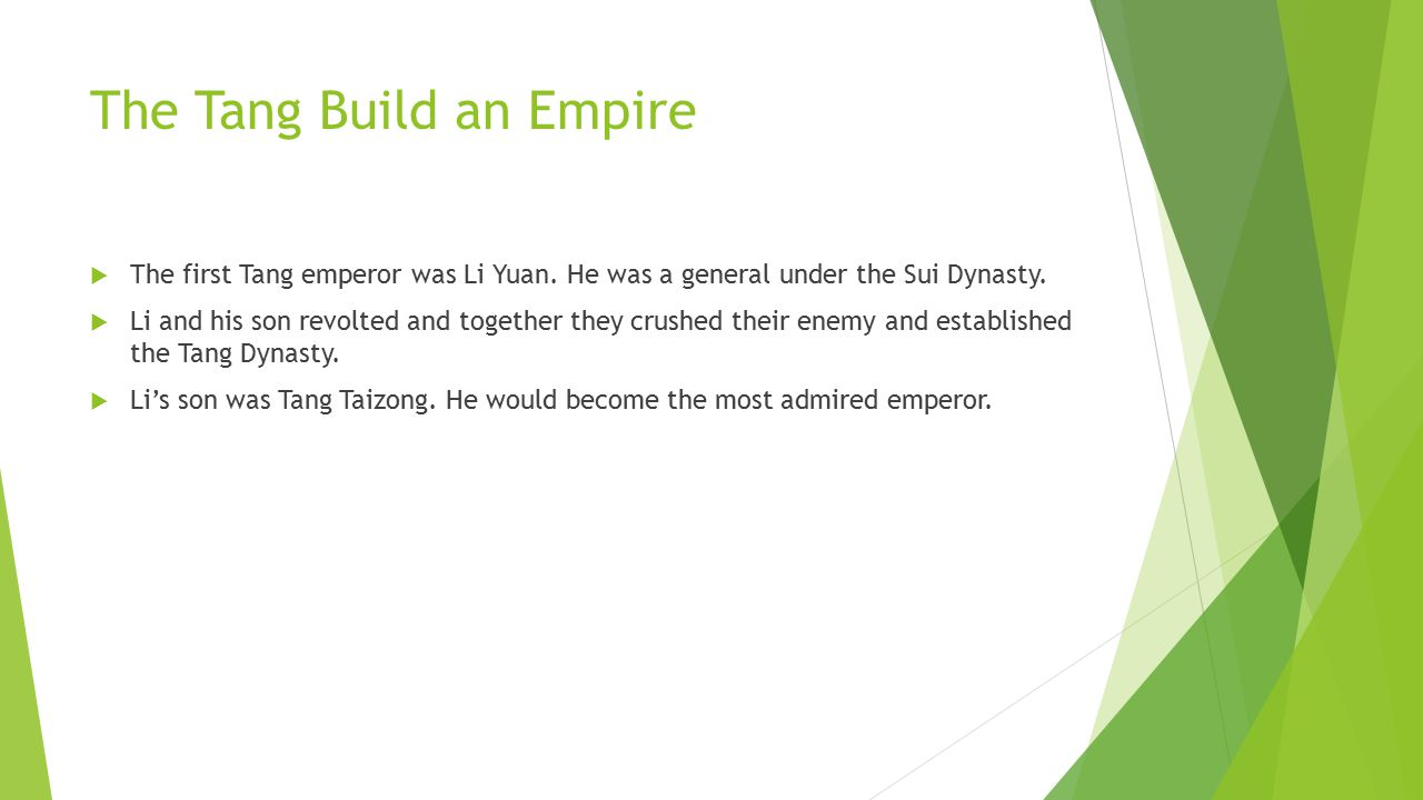 The Tang Build an Empire
