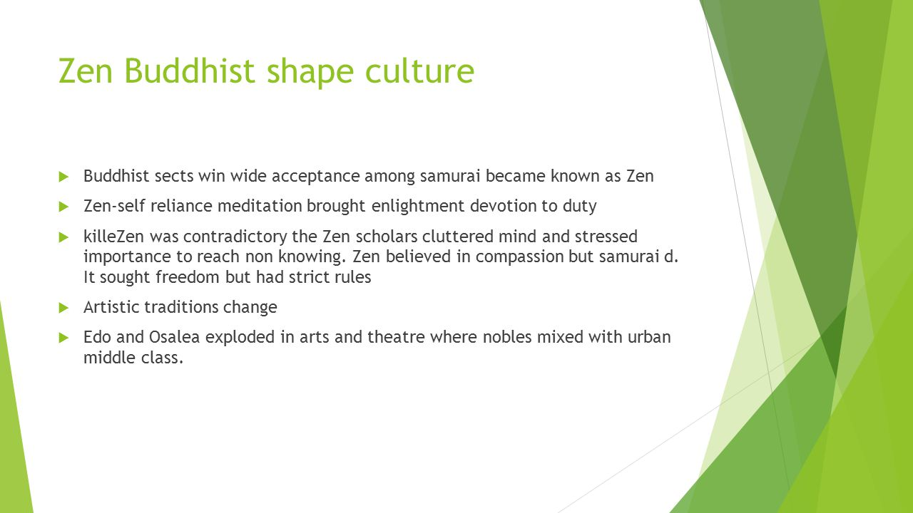 Zen Buddhist shape culture