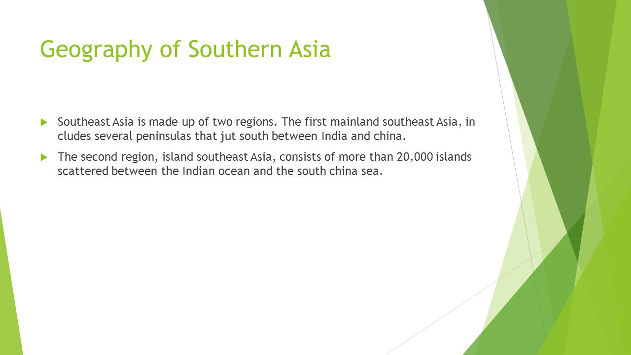 Geography of Southern Asia