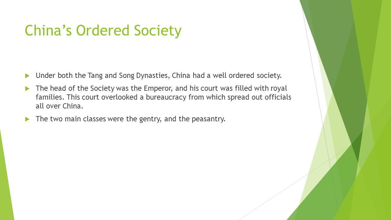 China's Ordered Society