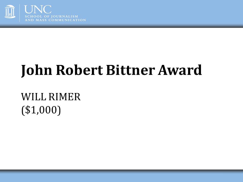 John Robert Bittner Award