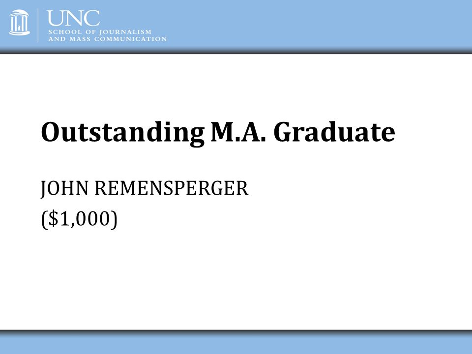 Outstanding M.A. Graduate