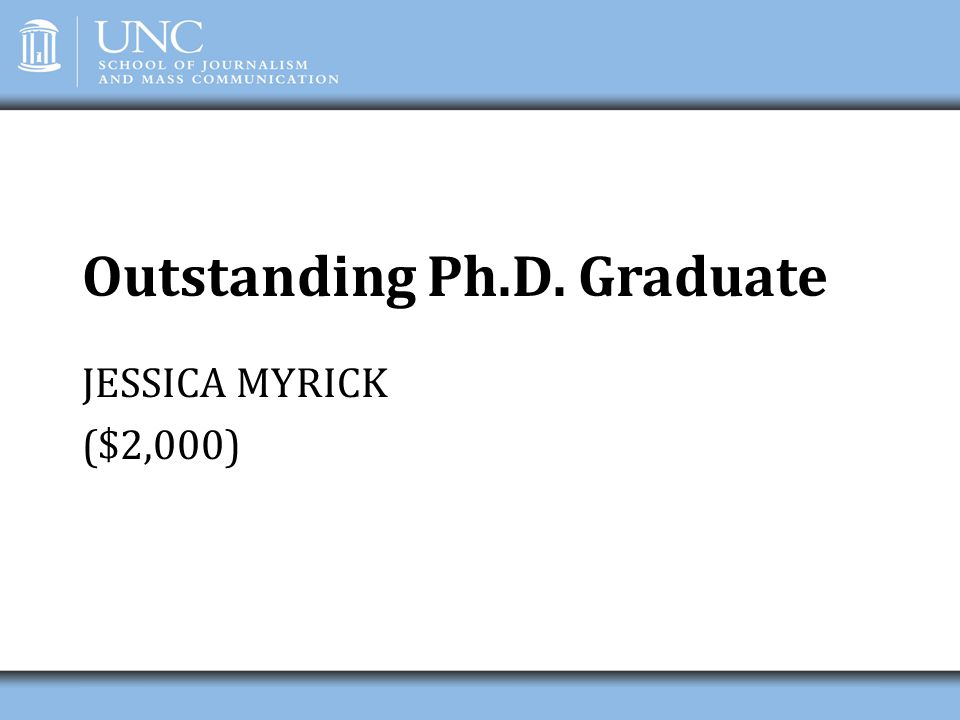 Outstanding Ph.D. Graduate