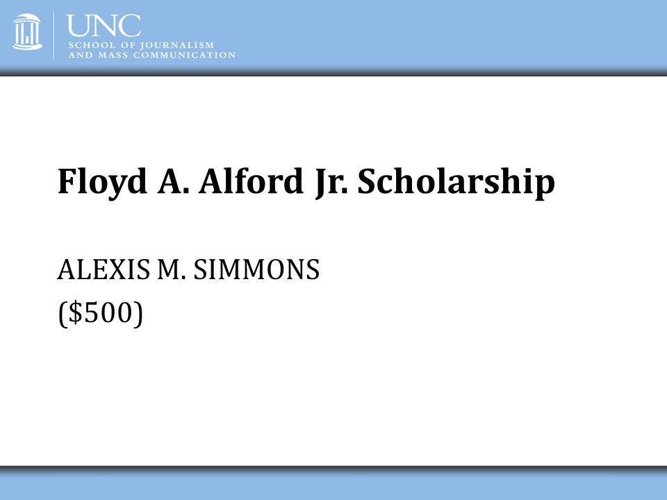 Floyd A. Alford Jr. Scholarship