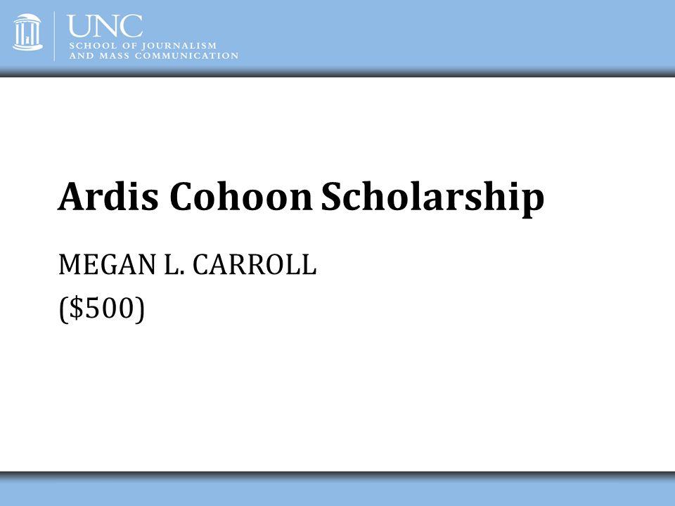 Ardis Cohoon Scholarship
