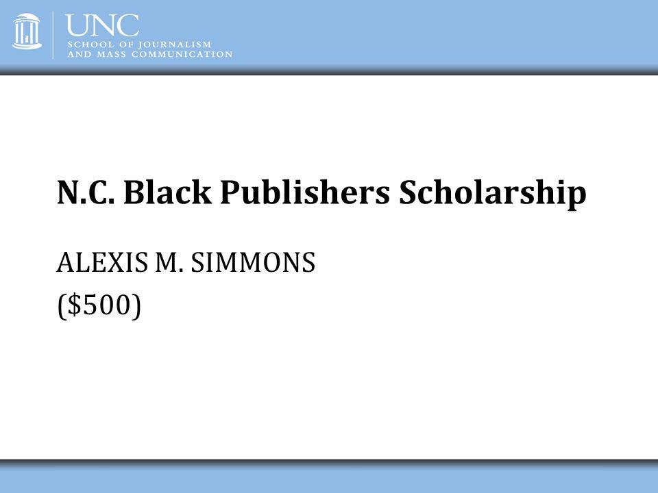 N.C. Black Publishers Scholarship