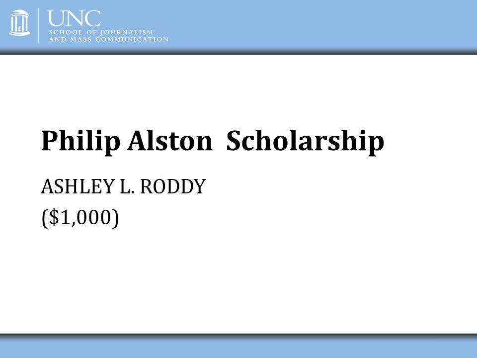 Philip Alston Scholarship