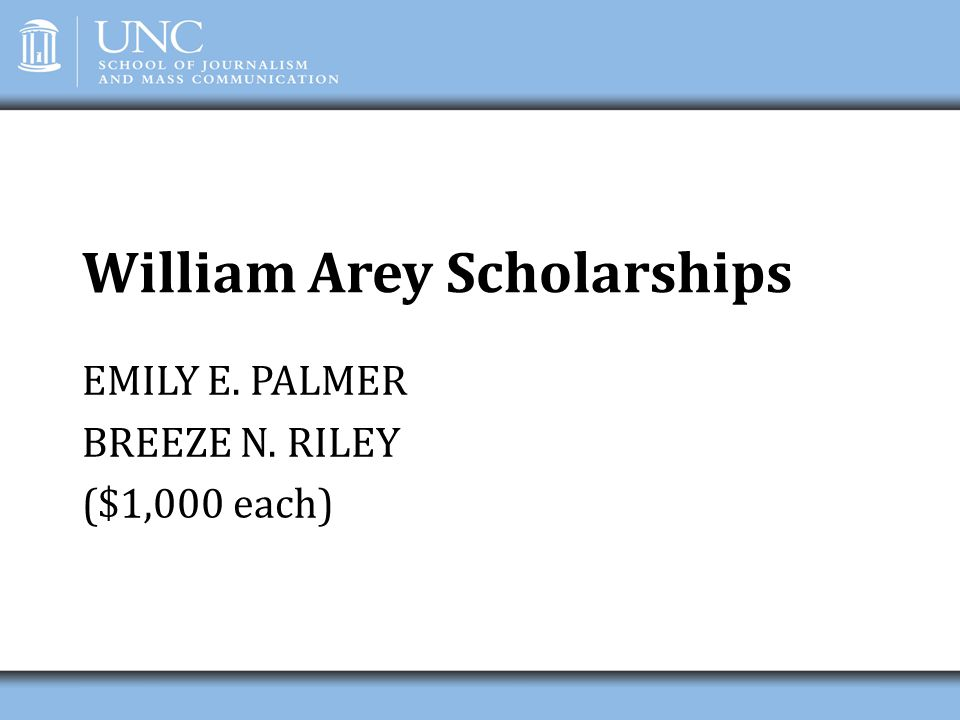 William Arey Scholarships