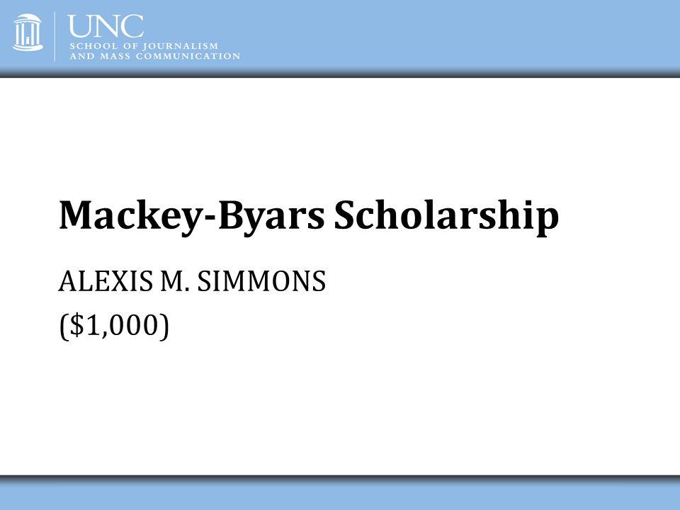 Mackey-Byars Scholarship