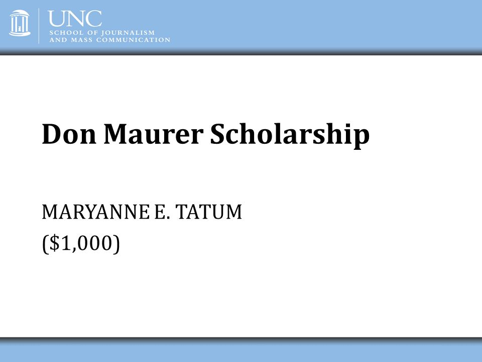 Don Maurer Scholarship