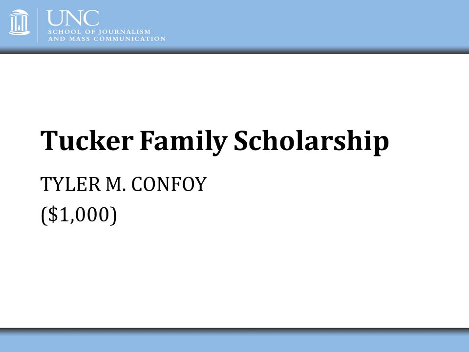 Tucker Family Scholarship
