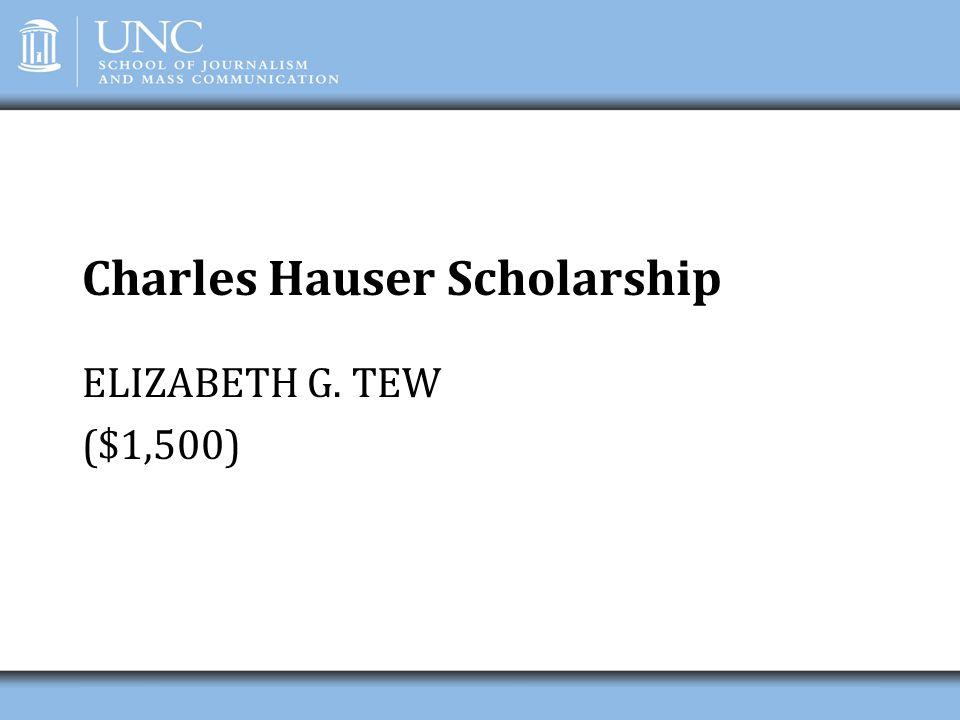Charles Hauser Scholarship