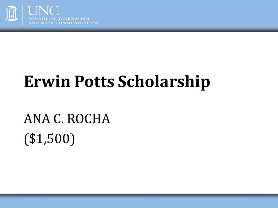 Erwin Potts Scholarship