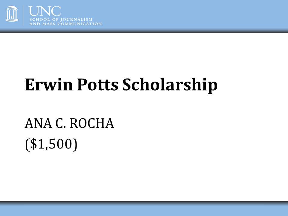 Erwin Potts Scholarship