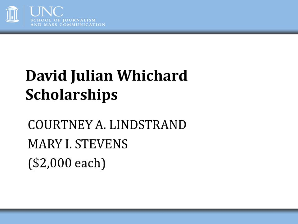 David Julian Whichard Scholarships