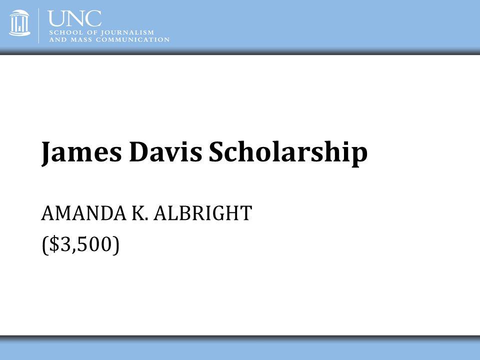 James Davis Scholarship