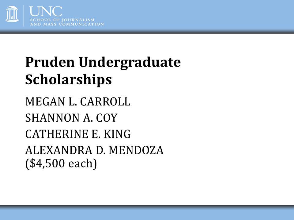 Pruden Undergraduate Scholarships