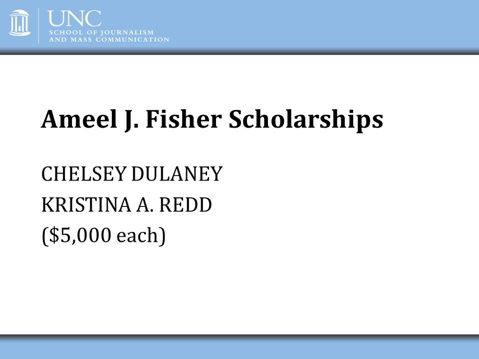 Ameel J. Fisher Scholarships