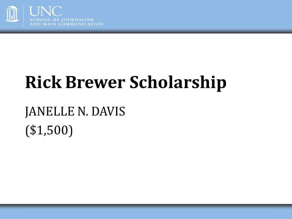 Rick Brewer Scholarship