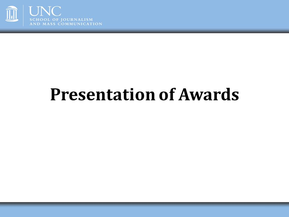 Presentation of Awards