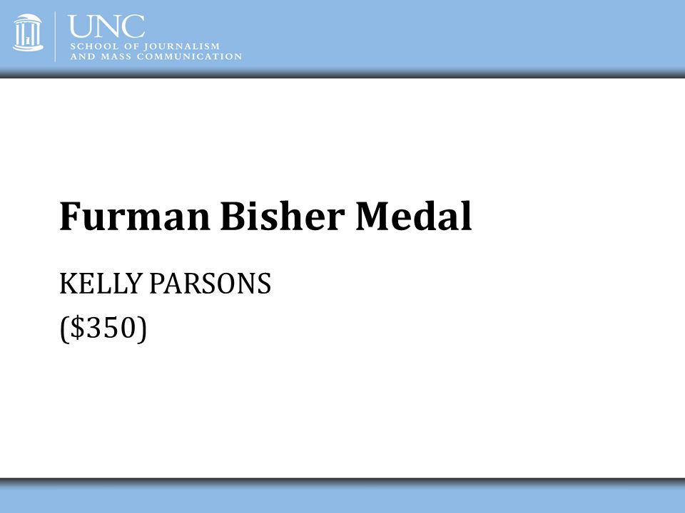 Furman Bisher Medal KELLY PARSONS ($350)